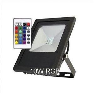 Projecteur led 10W rgbw extra plat