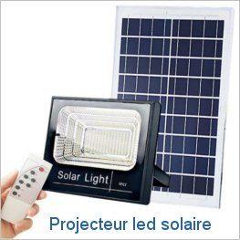 Projecteur led solaire exterieur 25w 40w 60w