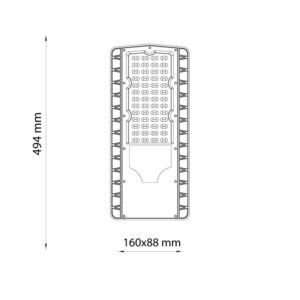 Lampadaire-eclairage-public-LED-100W-classic-blanc- froid-5700K