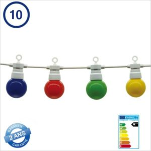 ECLAIRAGE-LED-TYPE-GUINGUETTE-10-PIECES-BLANCHE-8METRES-IP65-5090-MULTICOLORE