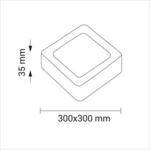 MINI-PANNEAU-LED-CARRE-24W-2256-BLANC-FROID-6500K