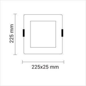 MINI-PANNEAU-LED-CARRE-AVEC-CADRE-ENCASTRE-18W-2348-BLANC-FROID-6000K