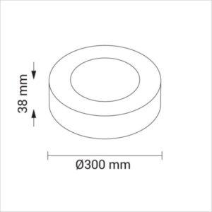 MINI-PANNEAU-LED-ROND-24W-2250-BLANC-CHAUD-2700K
