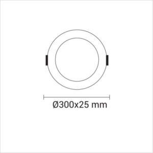 MINI-PANNEAU-LED-ROND-ENCASTRE-24W-2442-BLANC-NEUTRE-4500K